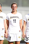 07 September 2012: Marquete's Vanessa Legault-Cordisco (CAN). The University of North Carolina Tar Heels defeated the Marquette University Golden Eagles 4-0 at Koskinen Stadium in Durham, North Carolina in a 2012 NCAA Division I Women's Soccer game.