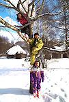 Ainu children, Hokkaido, Japan