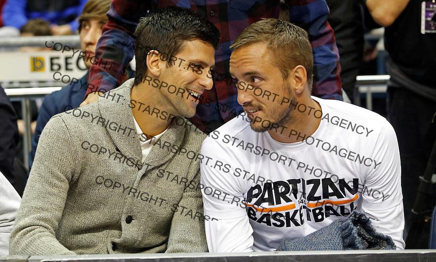 Viktor Troicki Novak Djokovic Aba Jadranska Regionalna liga, derbi, Partizan - Crvena Zvezda, 23. kolo Beograd, Srbija, 1.3.2015.  (credit image & photo: Pedja Milosavljevic / STARSPORT).