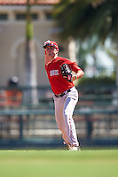 Boston Red Sox C.J. Chatham (5) during an Instructional League game against the Baltimore Orioles on September 22, 2016 at the Ed Smith Stadium in Sarasota, Florida.  (Mike Janes/Four Seam Images)