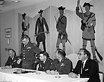 Pittsburgh PA:  US Army General Robert Wood and Government personnel held a news conference at the William Penn Hotel to announce a new command center at the Oakdale NIKE facility.  New radar was installed in 1962 to coordinate all the NIKE sites in Western Pennsylvania - 1963.  Brady Stewart Jr. was authorized to photograph the press conference and tour the new command center due to being a US Army staff photographer during WWII.