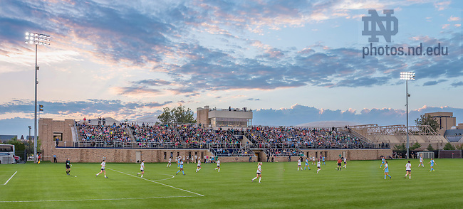 Sep. 20, 2014; First half of the Women's Soccer game against North Carolina at Alumni Stadium. (Photo by Matt Cashore/University of Notre Dame)