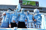 24 October 2015: UNC fans. The University of North Carolina Tar Heels hosted the University of Virginia Cavaliers at Kenan Memorial Stadium in Chapel Hill, North Carolina in a 2015 NCAA Division I College Football game. UNC won the game 26-13.