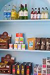 Grocery shelves