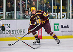 24 November 2012: University of Minnesota Golden Gopher forward Nick Bjugstad, a Junior from Blaine, MN, in action against the University of Vermont Catamounts at Gutterson Fieldhouse in Burlington, Vermont. The Gophers defeated the Catamounts 3-1 in the second game of their 2-game non-divisional weekend series. Mandatory Credit: Ed Wolfstein Photo