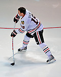 24 January 2009: Chicago Blackhawks center Jonathan Toews goes 4 for 8 in the Shooting Accuracy portion of the NHL SuperSkills Competition, part of the All-Star Weekend at the Bell Centre in Montreal, Quebec, Canada. ***** Editorial Sales Only ***** Mandatory Photo Credit: Ed Wolfstein Photo