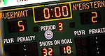 19 January 2008: University of Vermont Catamounts' scoreboard indicates the final score of the game against the Northeastern University Huskies at Gutterson Fieldhouse in Burlington, Vermont. The Catamounts defeated the Huskies 5-2 to close out their 2-game weekend series...Mandatory Photo Credit: Ed Wolfstein Photo