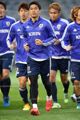Shinji Kagawa (JPN), <br /> MARCH 30, 2015 - Football / Soccer : <br /> Japan training session <br /> at Tokyo Stadium in Tokyo, Japan. <br /> (Photo by AFLO SPORT)