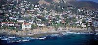 Laguna Beach, CA, Aerial View, Coast, Waterfront, Luxury Home's Cliffs, Bluffs, Ocean, Waves
