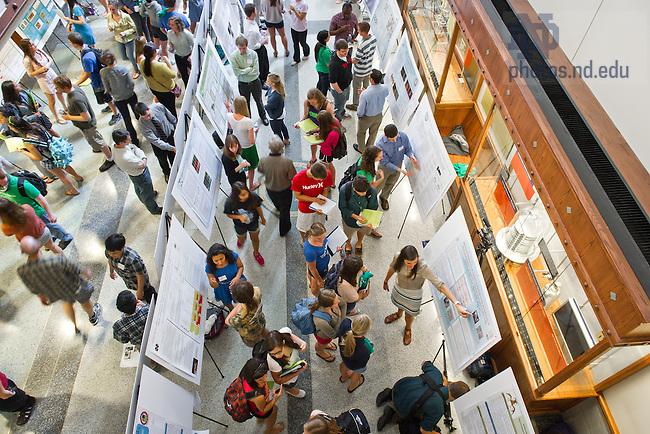 May 3, 2013; COS JAM poster presentation in Jordan Hall of Science...Photo by Matt Cashore/University of Notre Dame