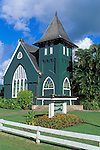 Wai'oli Hui'ia Church in Hanalei, North Shore, Island of Kauai, Hawaii