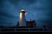 Nobska Lighthouse, Woods Hole, Cape Cod, Massachusetts,