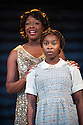 London, UK. 12.07.2013. THE COLOR PURPLE, THE MUSICAL opens at the Menier Chocolate Factory. Based on the novel by Alice Walker and the Warner Bros/Amblin Entertainment Motion Picture, it is directed by John Doyle. Picture shows:   Nicola Hughes (Shug Avery) and Cynthia Erivo (Celie). Photograph © Jane Hobson.