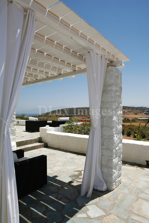 luxury cycladic veranda