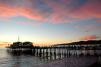 The Santa Monica Pier amid the sunset on Wednesday, January 5, 2011.