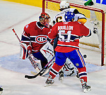 20 December 2008: Montreal Canadiens' goaltender Jaroslav Halak from the Slovak Republic, gives up a goal to the Buffalo Sabres during the third period at the Bell Centre in Montreal, Quebec, Canada. With both teams coming off wins, the Canadiens extended their winning streak by defeating the Sabres 4-3 in overtime. ***** Editorial Sales Only ***** Mandatory Photo Credit: Ed Wolfstein Photo