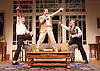 My Night with Reg <br /> by Kevin Elyot <br /> at the Apollo Theatre, London, Great Britain <br /> Press photocall<br /> 20th January 2015 <br /> Julian Ovenden as John <br /> Geoffrey Streatfeild as Daniel <br /> Jonathan Broadbent as Guy <br /> <br /> Photograph by Elliott Franks <br /> Image licensed to Elliott Franks Photography Services