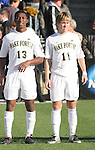16 December 2007: Wake Forest's Michael Lahoud (13) and Jamie Franks (11). The Wake Forest University Demon Deacons defeated the Ohio State Buckeyes 2-1 at SAS Stadium in Cary, North Carolina in the NCAA Division I Mens College Cup championship game.