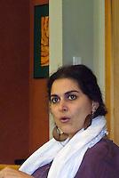 Christiane Karam teaching at Omega Circlesongs workshop, Rhinebeck NY