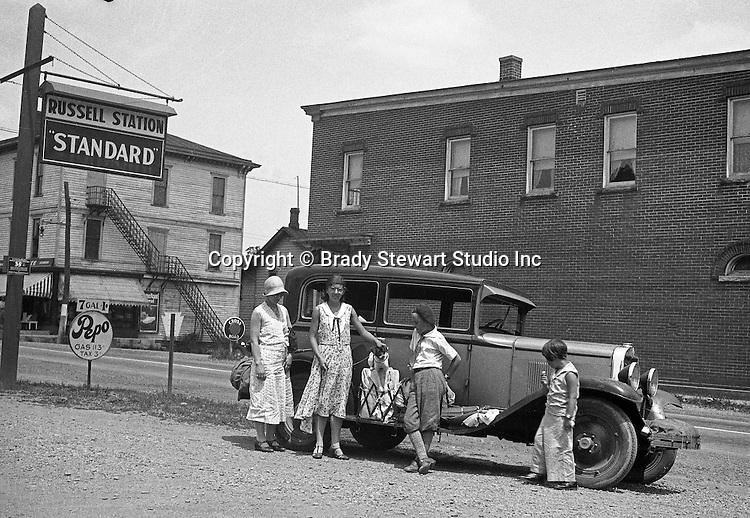 Bedford PA:  The Stewart Family out for a drive along Route 30 in their 1929 Chevy Coach - 1931.