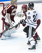 Michael Matheson (BC - 5), Shane Luke (PC - 20) - The Providence College Friars tied the visiting Boston College Eagles 3-3 on Friday, December 7, 2012, at Schneider Arena in Providence, Rhode Island.