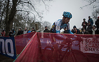 Kevin Pauwels (BEL/Marlux-NapoleonGames) racing for a podium spot in a race he already won twice<br /> <br /> UCI Cyclocross World Cup Namur/Belgium 2016