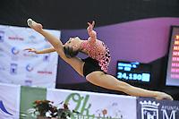 Melitina Staniouta of Belarus performs  at 2010 Grand Prix Marbella at San Pedro Alcantara, Spain on May 15, 2010. Melitina placed 4th AA at Marbella 2010. (Photo by Tom Theobald).