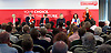 Labour Party Deputy Leadership Hustings - East of England - The first of Labour&rsquo;s Deputy Leadership regional and national hustings moderated by Gaby Hinsliff at The Forum Banqueting Suites Stevenage 20 June 2015 <br /> <br /> <br /> deputy leader candidates <br /> <br /> Ben Bradshaw<br /> <br /> Angela Eagle<br /> <br /> Tom Watson<br /> <br /> Stella Creasy<br /> <br /> Caroline Flint<br /> <br /> <br /> <br /> Photograph by Elliott Franks <br /> <br /> <br /> Image licensed to Elliott Franks Photography Services