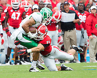 The Georgia Bulldogs played North Texas Mean Green at Sanford Stadium.  After North Texas tied the game at 21 early in the second half, the Georgia Bulldogs went on to score 24 unanswered points to win 45-21.