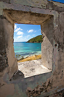 Looking out on Little Lameshur Bay<br />