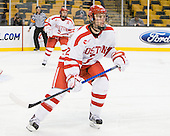 Ryan Ruikka (BU - 2) - The Harvard University Crimson defeated the Boston University Terriers 5-4 in the 2011 Beanpot consolation game on Monday, February 14, 2011, at TD Garden in Boston, Massachusetts.