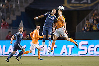 The LA Galaxy defeated the Houston Dynamo 1-0 from a Landon Donovan PK at Home Depot Center stadium in Carson, California on  May 25, 2011....