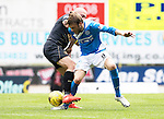 St Johnstone v Celtic&hellip;20.08.16..  McDiarmid Park  SPFL<br />Murray Davidson and Scvott Brown<br />Picture by Graeme Hart.<br />Copyright Perthshire Picture Agency<br />Tel: 01738 623350  Mobile: 07990 594431