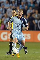 Oriol Rosell (20) midfield Sporting KC in action..Sporting Kansas City defeated D.C Utd 1-0 at Sporting Park, Kansas City, Kansas.