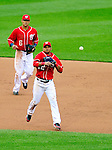 24 April 2010: Washington Nationals' infielder Alberto Gonzalez in action against the Los Angeles Dodgers at Nationals Park in Washington, DC. The Dodgers edged out the Nationals 4-3 in a thirteen inning game. Mandatory Credit: Ed Wolfstein Photo