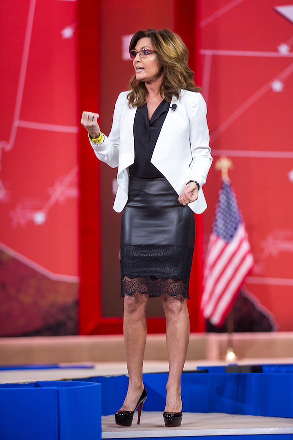 Former Governor Sarah Palin speaks at the 2015 Conservative Political Action Conference (CPAC) outside Washington, DC.