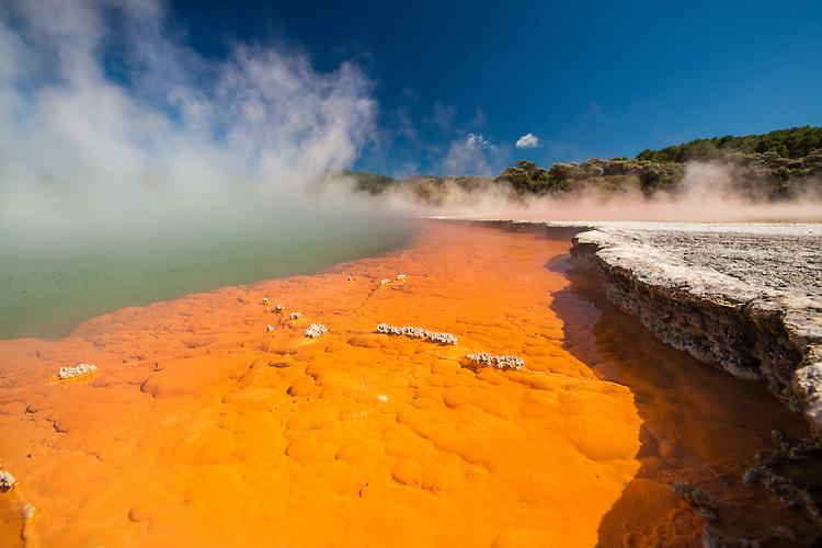 Champagne Pools, Waiotapu Thermal Reserve, Rotorua, New Zealand - stock photo, canvas, fine art print