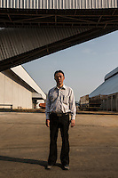 Cambodia - Kampong Speu Province -  Seng Nhak, Director of the Phnom Penh Sugar Company. According to him, the company has had a positive impact on the lives of the communities in Kampong Speu, employing more than 4,000 people and bringing electricity and roads.