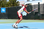 08 May 2015: Yannik James (GRN). The University of Denver Pioneers played the Mississippi State University Bulldogs at Cone-Kenfield Tennis Center in Chapel Hill, North Carolina in a 2015 NCAA Division I Men's Tennis Tournament First Round match. MSU won the match 4-3.