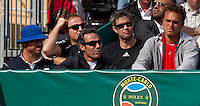 Team Murray watching Andy MURRAY (GBR) against Phillip KOHLSCHREIBER (GER) in the second round. Phillip Kohlschreiber beat Andy Murray 6-2 6-1...International Tennis - 2010 ATP World Tour - Masters 1000 - Monte-Carlo Rolex Masters - Monte-Carlo Country Club - Alpes-Maritimes - France..© AMN Images, Barry House, 20-22 Worple Road, London, SW19 4DH.Tel -  + 44 20 8947 0100.Fax - + 44 20 8947 0117