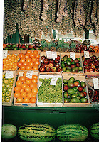 old french market stand.fruits and vegtabales