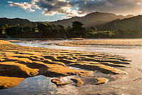 Sunset on Totaranui beach on Abel Tasman Coast Track, Abel Tasman National Park, Nelson Region, South Island, New Zealand