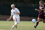 28 November 2008: North Carolina's Allie Long (21) and Texas A&M's Rachel Shipley (7). The University of North Carolina Tar Heels defeated the Texas A&M University Aggies 1-0 in double overtime at Fetzer Field in Chapel Hill, North Carolina in a Fourth Round NCAA Division I Women's college soccer tournament game.