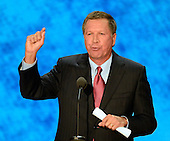 Governor John Kasich (Republican of Ohio) makes remarks at the 2012 Republican National Convention in Tampa Bay, Florida on Tuesday, August 28, 2012.  .Credit: Ron Sachs / CNP.(RESTRICTION: NO New York or New Jersey Newspapers or newspapers within a 75 mile radius of New York City)