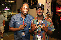 NEW ORLEANS, LOUISIANA - JULY 2, 2016 Trey Lorenz & Luke James backstage at the Essence Festival at The Mercedes Benz Superdome, July 2, 2016 in New Orleans, LA. Photo Credit: Walik Goshorn / Media Punch