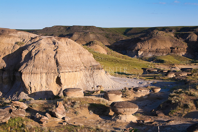Rock formations along the Marias River in Montana
