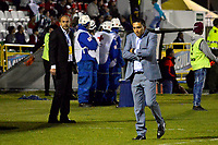 TUNJA -COLOMBIA, 13-05-2017: Diego Andrés Corredor técnico de Patriotas FC gesticula durante partido contra Atletico Nacional por la fecha 18 de la Liga Águila I 2017 realizado en el estadio La Independencia de Tunja. / Diego Andrés Corredor coach of Patriotas FC gestures during match against Atletico Nacional for the date 18 of Aguila League I 2017 played at La Independencia stadium in Tunja. Photo: VizzorImage / Javier Morales  / Cont