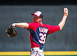 14 March 2014: Washington Nationals pitcher Taylor Jordan on the mound during a Spring Training game against the Detroit Tigers at Joker Marchant Stadium in Lakeland, Florida. The Tigers defeated the Nationals 12-6 in Grapefruit League play. Mandatory Credit: Ed Wolfstein Photo *** RAW (NEF) Image File Available ***