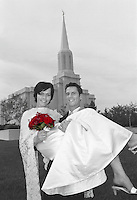 Erickson Wedding at the St. Louis Temple of the Church of Jesus Christ of Latter-day Saints if LaDue, Missouri Sept. 2, 2002. Photo by August Miller