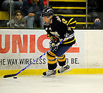 30 December 2007: Quinnipiac University Bobcats' forward Greg Holt, a Sophomore from Mt. Sinai, NY, in action against the University of Vermont Catamounts at Gutterson Fieldhouse in Burlington, Vermont. The Bobcats defeated the Catamounts 4-1 to win the Sheraton/TD Banknorth Catamount Cup Tournament...Mandatory Photo Credit: Ed Wolfstein Photo